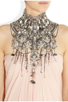 A necklace made out of Maia's crystals *ejected during the crash to Earth* Prevents a Vamp from biting her on the throat.