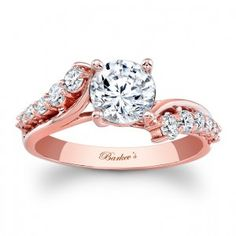 But in white gold Rose Gold Engagement Ring - 7926LPW Barkevs