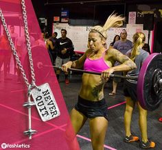 """""""On the inside cancer feels like an emptiness. You feel alone. Cancer makes me feel abnormal and out of place. CrossFit kept me going."""" - Whitney Bozzer aka @inked_and_pink  Whitney's NEVER QUIT mantra has served her well. After being diagnosed with breast cancer 5 times, she never stops fighting. She is a @barbellsforboobs Pro Advocate and a Fashlete of the Month. She uses her story to create a message of living - not just surviving. She inspires others to live a healthy, full life…"""