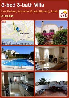 3-bed 3-bath Villa in Los Dolses, Alicante (Costa Blanca), Spain ►€199,995 #PropertyForSaleInSpain