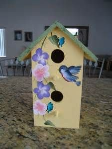 Colorfully Painted Bird House by MyPassionCreations on Etsy, $10.00