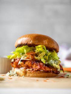 Buffalo Chicken Sandwiches - Grilled Buffal Chicken Sandwiches