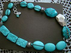 """Silpada Sterling Silver Turquoise 20"""" Long Necklace $289 N2163 BNIB"""