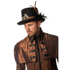 Steampunk hoed met veren | PW Hoofs