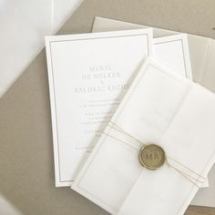 wedding invitations wax seal Sent out last week, I love the simplicity of this design, sealed with a customised gold wax seal. Diy Wedding Fans, Wedding Prep, Wedding Vendors, Wedding Cards, Weddings, Wedding Calligraphy, Elegant Wedding Invitations, Wedding Stationary, Nordic Wedding
