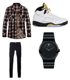 """""""Untitled #587"""" by jamiesowers14 on Polyvore featuring Diesel Black Gold, NIKE, Movado, men's fashion and menswear"""