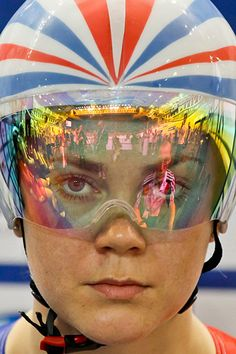 Great Britain's Jessica Varnish prepares ahead of a women's sprint heat at the 2012 Track Cycling World Championships in Melbourne     Photograph: Mark Gunter/AFP/Getty Images