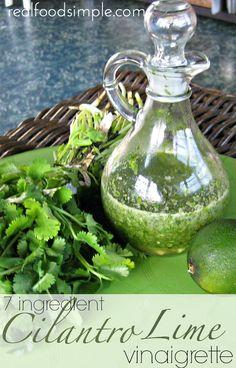 7 ingredient cilantro lime vinaigrette | realdfoodsimple.com