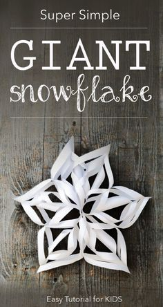 Yes, snowflakes any day! Snowflakes Tutorial} Winter craft your kids can do solo. Would make such a fun backdrop or prop for a photo session! Noel Christmas, All Things Christmas, Winter Christmas, 3d Snowflakes, Snowflake Craft, Simple Snowflake, Holiday Crafts, Holiday Fun, Holiday Break