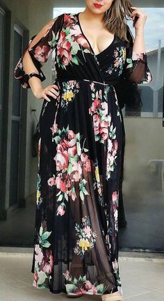 Plus Size Formal Gowns Casual Plus Size Outfits, Curvy Outfits, Mode Outfits, Vestidos Plus Size, Plus Size Dresses, Big Size Dress, The Dress, Fancy Dress, Plus Size Fashion For Women