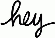 Silhouette Online Store: cursive hey - all Silhouette cut files 50% off through March 27th!