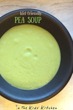 Kid-friendly pea soup made with only 5 ingredients! An easy lunch idea, plus tips on how to get picky eaters to try pea soup!