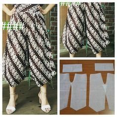 62 Ideas sewing patterns trousers women for 2019 Batik Fashion, Fashion Sewing, Diy Fashion, Kulot Batik, Batik Dress, Sewing Dress, Sewing Clothes, Cullotes Pants, Couture