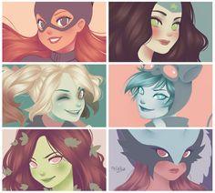 DC girls by Nataliadsw.deviantart.com on @DeviantArt