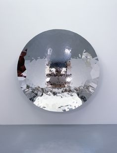 "allesistverbunden:  Anish Kapoor, ""Untitled"", 2010, 230 x 230 x 44 cm, Stainless steel"