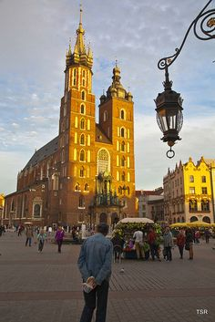 St. Mary's Basilica and market square, Kraków, Poland
