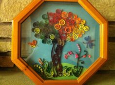 framed-tree quilled