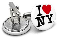 I Love New York  Cufflinks Latest Trends, Cufflinks, York, Accessories, Wedding Cufflinks, Jewelry Accessories