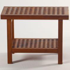 Aqua Teak Grate Teak Shower Bench with Shelf & Reviews | Wayfair
