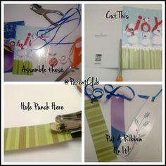 Recycle greeting cards into bookmarks