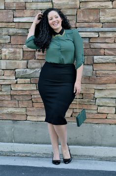 40 Office Approved Outfits For Plus Size Women - Office Salt Woman Skirts woman within plus size skirts Plus Size Work, Look Plus Size, Curvy Girl Fashion, Work Fashion, Fashion Outfits, Fashion Ideas, Plus Size Dresses, Plus Size Outfits, Mode Xl