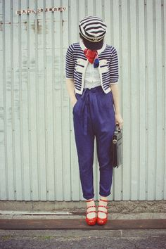 I am a sailor's girlfriend... this outfit should definitely be hanging in my closet.