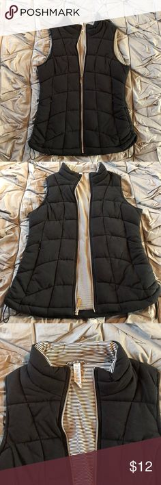 Marc New York black vest This vest is super cute, never been worn! It's simply been hanging in my closet and deserves a good home! Cinches on the sides for more or less form fitting look! Marc New York Jackets & Coats Vests