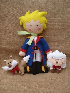 Kit Pequeno Príncipe de Feltro - Ideal para decoração de festa