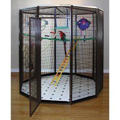 8 ft. Diameter Indoor Aviary | from hayneedle.com