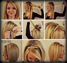 peinados para ir al colegio faciles con capas