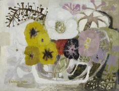 Composition with Flowers - Mary Fedden - Portland Gallery Monet, Still Life Art, Henri Matisse, Color Of Life, Artist Art, Painting Inspiration, Collage Art, Painting & Drawing, Flower Art
