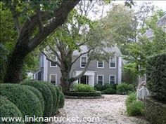 Nantucket - 6 Kite Hill Lane - This spacious custom built home with guest cottage is situated at the end of a private shell lane. The main house has five bedrooms, five and half baths. The guest cottage has one bedroom and 1.5 baths. Wonderful feeling of privacy and space yet minutes to Main Street. Large private back yard, abuts Conservation land.
