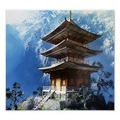 Buddhist Zen Temple Poster