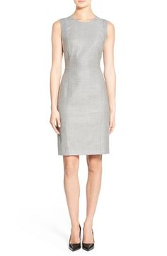 BOSS 'Dyressa' Stretch Wool Blend Sheath Dress available at #Nordstrom