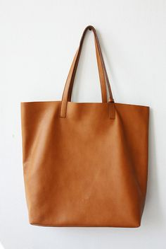 657283dcb8f1 Large Camel Leather Tote Bag Unlined DOMI LIMITED by MISHKAbags Tote Bags