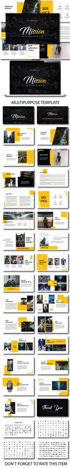 Mission Multipurpose Presentation - PowerPoint Templates Presentation Templates