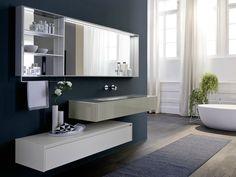 #Napoli #Posillipo #Pozzuoli #Vomero #Fuorigrotta #Bagnoli #Campania #madeinitaly  #bagno, #mobili #arredobagno Mobile lavabo singolo sospeso con specchio COMP N05 by IdeaGroup
