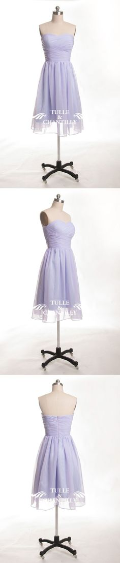 chiffon lilac bridesmaid dresses in short length