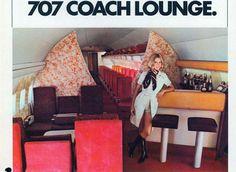 Braniff Boeing 747 Upper Deck Lounge