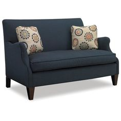 Sam Moore Aunt Jane Settee Finish: Classic, Upholstery: 2159 Cranberry