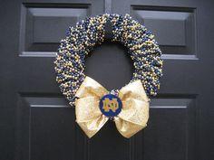 Notre Dame Beaded Wreath Custom Any Team