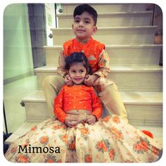 Lovely brother n sister Baby Boy Dress, Dresses Kids Girl, Kids Outfits, Baby Lehenga, Kids Lehenga, Baby Boy Fashion, Kids Fashion, Kids Indian Wear, Kids Dress Patterns
