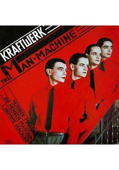 Kraftwerk - The Man · Machine 1978 (Vinyl, LP, Album) at Discogs Greatest Album Covers, Rock Album Covers, Classic Album Covers, The Velvet Underground, Cover Art, Lp Cover, Lps, Trevor Jackson, The Clash
