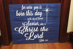 READY TO SHIP For Unto Us A Child Is Born by rachaelwindemuller, $22.00