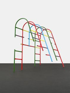 From Peres Projects, Przemek Pyszczek, Playground Structure (Tunnel) Lacquered steel, 270 × 160 × 250 cm Institute Of Contemporary Art, Contemporary Sculpture, Sculpture Art, Sculptures, Playground Set, Vitra Design, High Art, Art Club, Installation Art