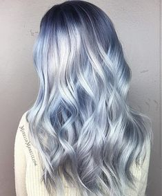 Metallic Hair Color – The Most Magnetic Trend Ever! – Page 3 – Style O Che… Metallic Hair Color – The Most Magnetic Trend Ever! – Page 3 – Style O Check Ombre Pastel Hair, Icy Blue Hair, Silver Blue Hair, Icy Hair, Pastel Blue Hair, Ombre Hair Color, Cool Hair Color, Pastel Colors, Amazing Hair Color