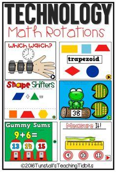 technology math games, games for math rotations, math technology apps for kindergarten, first grade, second grade Kindergarten Math Games, Teaching Math, Math Activities, Teaching Technology, Educational Technology, Teaching Ideas, Technology Lessons, Teaching Time, Math Math
