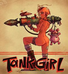 Tank girl, by Brett parson