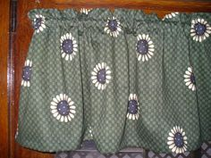 Sunflower Basketweave country farm kitchen fabric window topper curtain Valance #Handmade #Holiday