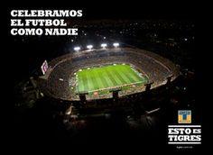 Majestuoso Estadio Universitario (El Volcán) hogar de los Tigres de la UANL
